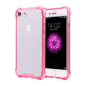 Для iPhone7 случае ударопрочный прочный гибридный резиновый броня прозрачный мягкий TPU + PC телефон Case для Apple iPhone76 плюс задняя крышка case