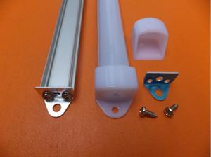 Livraison Gratuite 2000mmX18mmX11mm 2m longueur bande LED profilé en aluminium couverture laiteuse avec embouts pour bandes LED et barre rigide