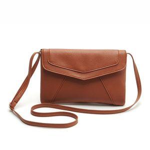 Toptan-PU deri Kadın Zarf Messenger çanta Ince Crossbody Omuz çantaları Çanta Küçük Çapraz vücut çanta Satchel Bayanlar Çantalar 2017