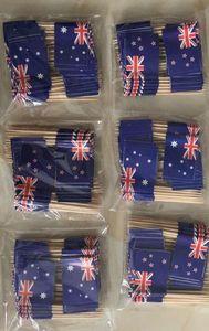 Free Shipping Australia Flag Toothpick Flag 3.5X2.5CM Australia National Flag