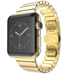 Correas de metal con hebilla de mariposa de acero inoxidable para la correa de Apple Watch 38mm / 42mm 40mm 44mm Correa de metal para iwatch series 4 3 1/2 correas de reloj