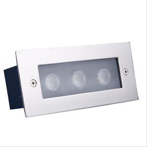 шаг палубы Сид свет 3W Сид подземный светильник встраиваемый лестницы paitio грунтовые прожекторы пола сад открытый стены пакет водить освещения