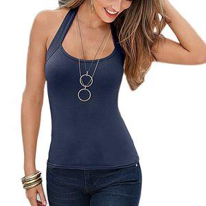 Moda Donna Canotta Top senza maniche Top Canotte Casual Top T-Shirt sexy ZZ