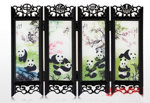 Wholesale cheap 4 style Chinese style traditional crafts Chinese antique small screen Decoration