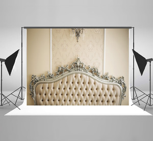 Kate Testiera per camera da letto Fotografia Fondali Sfondo bianco Lampadario per foto di compleanno Sfondo