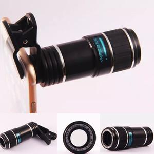 مقطع في 12X 70 درجة F20MM زووم بصري HD تلسكوب عدسة الكاميرا للهاتف المحمول العالمي