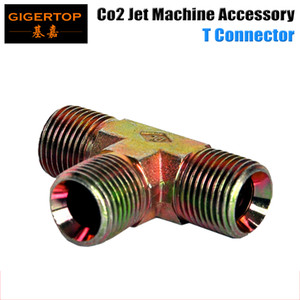 CO2 Jet Machine's T Connector From TIPTOP,Two Way Splitter For CO2 Gun Co2 Cannon Led Club Machine Brass Fitting