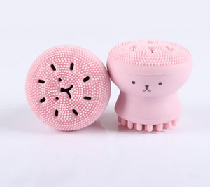 Softly Silicone facial Cleansing Brush Manual Multi Function face Massage Exfoliator skin care Tool silcone face washing brush