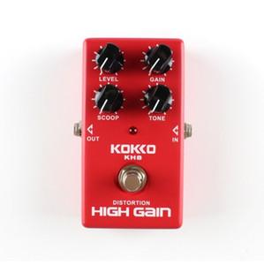 무료 배송 HOT KH8 고품질 기타 왜곡 고음질 전기 효과 페달 True Bypass 빨간색 내구성 기타 부품 액세서리