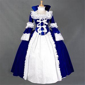 Gonna in pizzo stile foglia di pizzo Gorgeous Retro Strega Cosplay Prom Dress Fashion Gothic Lolita semplice abito lungo 2017 Real Photo