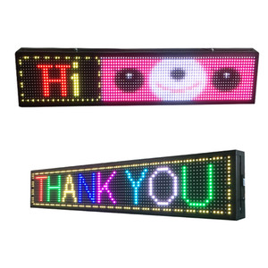 40X8 inch P10 outdoor full color programmable LED logo rainbow scrolling message text display board