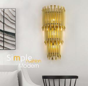 새로운 알루미늄 파이프 골드 벽 램프 실내 조명 침대 옆 램프 벽 조명 장식 벽 조명 전등 LLFA
