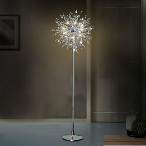 Americano classico europeo decorativo fiore albero lampada da terra luce cristallo stand lampada LED lampada da terra in cristallo
