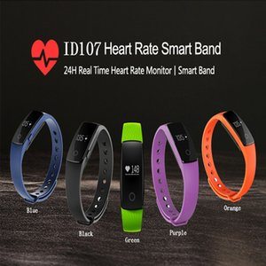 ID107 Bluetooth Bracelet Smart Heart Rate Fitness Tracker Call Alarm Smart Wristband For IOS Android Sport Tracker Smartband