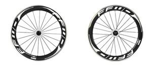 FFWD F6R 60mm yol bisikleti jantlar beyaz siyah hızlı ileri bisiklet karbon tekerlek alaşımlı yüzey 3 k parlak powerway hub ile tekerlekler jantlar
