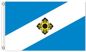 Hot sale City of Madison Flags with grommets 100D polyester custom flags