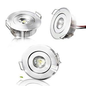 plafonnier led 1W LED Cool White Warm White Cabinet Plafonnier Downlight Spot Lampe Ampoule 85-265V