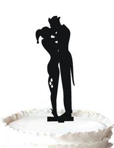 tiff torta nuziale -The Joker e Harley Quinn Kiss silhouette, 37 colori per opzione Spedizione gratuita