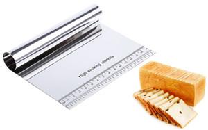 الفولاذ المقاوم للصدأ البيتزا العجين مكشطة القاطع أدوات تزيين الكعكة فندان اكسسوارات المطبخ الخبز المعجنات ملاعق القواطع + b