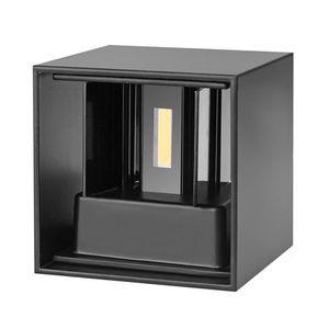 Edison2011 الحديثة موجزة مكعب قابل للتعديل سطح محمولة أدى مصابيح الجدار في الهواء الطلق للماء IP65 الألومنيوم الجدار أضواء أسفل أضواء حديقة