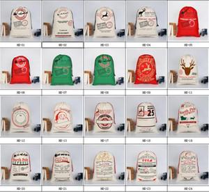 Bolso de lazo grande de Papá Noel de Monogrammable de la lona de la Navidad con los renos, regalos de Navidad Monogramable bolsos de sacos de santa