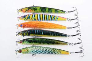 6pcs of bionic minnow fishing bait 9.5cm 8.5g topwater fishing lure artificial bait accessories wobbler pesca tackle hooks