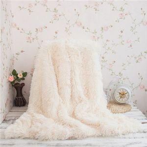 Venda por atacado- WINLIFE Super Macio Longo Shaggy Difusa Fur Faux Fur Quente Elegante Aconchegante Com Fluffy Sherpa Throw Blanket