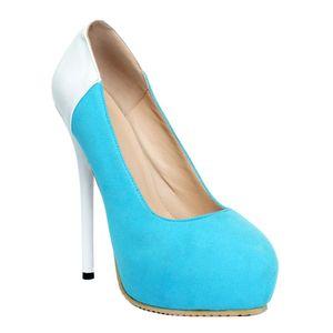 Zandina Toptan kadın El Işi Moda Soyut Patchwork Baskı Stiletto Platformu Yüksek Topuk Pompaları Kayma-on Ayakkabı XD204