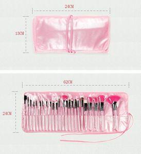 Новый Professional 24 PCS Makeup Щетка Набор Макияж Туалетная Комплект Шерстяной Бренд Макияж Кисть Набор Чехол Бесплатный DHL DHL