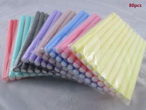 Envío rápido al por mayor 80pcs / Lot rizador de los fabricantes de espuma suave Bendy Twist rizos Diy Styling Rollers herramienta para mujeres accesorios