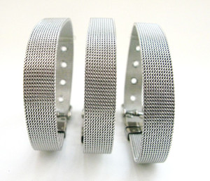 (20,30) pcs / lot 8x210mm pulsera de acero inoxidable pulsera apta para 8mm letras de diapositivas, diy charms joyería de moda