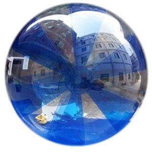 Free Shipping Water Walking Ball Transparent Aqua Zorbing Sphere with German Tizip Zip Diameter 5ft 7ft 8ft 10ft