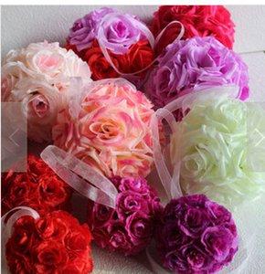 Bolas de flores decorativas artificiais falso Rose flores para festa de casamento decoração fotografia decorações acessórios de festa grinalda atacado