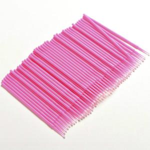 100 Pcs / Pack Lint Hot Lint Maquillage Brosses Lash Individuel Enlever Outils Micro brosses Cils Extension Outils