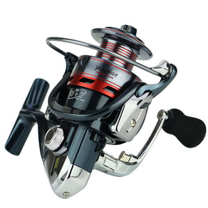 Rueda de carrete de pesca de Spinning de carrete de aluminio 14BB 3000 4000 5000 Series Gear Ratio 5.5: 1 EVA Handle Right / Left Handle cambiable