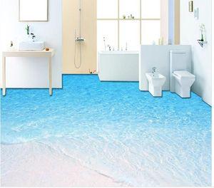 Таможня любой размер популярные обои картины пола ванной комнаты песчаного пляжа 3Д водоустойчивые для стены ванной комнаты