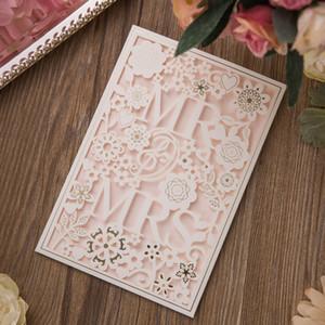2019 nouvelle invitation de mariage amende / invitation blanche de mariage européen / invitations de mariage / fournitures de mariage en gros