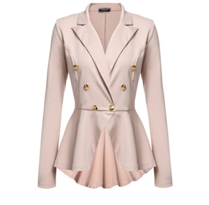 Médio-longo magro ol terno blazer feminino formal terno de cor sólida das mulheres 2017 novo frete grátis mulheres blazer casaco