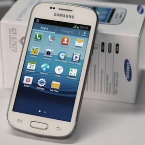 Samsung GALAXY Tendência Duos II S7572 S7562I 3G WCDMA Telemóveis 4G ROM 4.0inch Recuperado Desbloqueado Original Telefone
