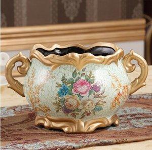 Европа горшок форма керамическая ваза для домашнего декора настольная ВАЗа 9 цветов