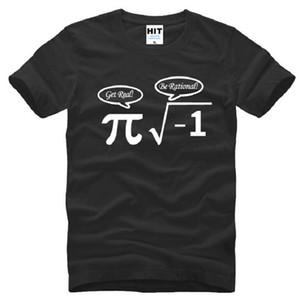 Be Rational Get Real Nerdy Geek Pi Nerd Camisetas Hombre Algodón Cool Math Nerd Impreso manga corta Hombre Camiseta Funny Male Top Tees