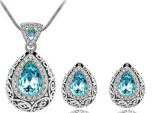 Austrian Crystal Jewelry Sets Newest Fashion Necklace & Earring Simple Jewelry Sets for Women YP1816
