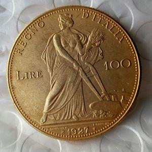 Italien 100 Lire (Fälschungen sind möglich) 1927 münzen Gold Copy Coin dekoration zubehör günstigen neupreis