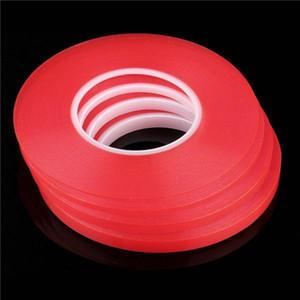 50 pçs / lote 1mm 2mm 3mm 4mm 5mm 8mm 10mmClaro Adesivo Transparente Dupla face Fita Adesiva Resistente Ao Calor Universal celular reparação adesivo