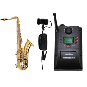Saxophone wireless audio transmission system instrument microphone microphone U section adjustable frequency capacitance wheat pickup