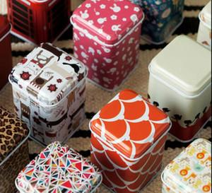 Wholesale - nuove scatole di immagazzinaggio bidoni ferro metallo latta Gioielli stuzzicadenti Box Mini cabina telefonica metri consegna casuale