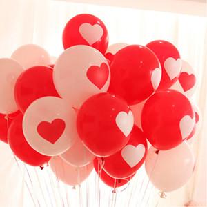 50PCS hermosa persona ronda festival de globos estado de ánimo rojo globos de látex de núcleo blanco globos propuesta de boda del contrato de matrimonio