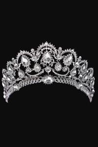 Sparkle Perlen Kristalle Hochzeit Kronen 2017 Für Braut Braut Kristall Schleier Tiara Crown Stirnband Haarschmuck Party Hochzeit Tiara CPA792