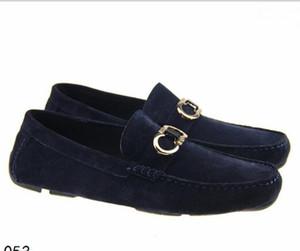Cuir véritable Suede Men Dress Casual Shoes Marque Designer Oxford mocassin doug Chaussures Zapatos Hombre Costume Mocassins 40-46