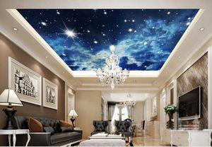 Foto Personalizza dimensioni Modern Stereo Sky Soffitto wallpaper 3d ceiling